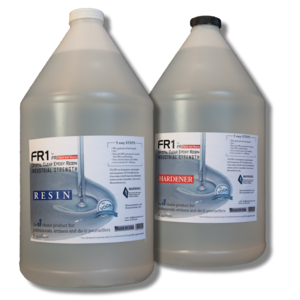 FR1 Crystal Clear Epoxy Resin to use on river tables, bar counter tops and table tops - 24 gallon kit - by FIBERS & RESINS