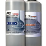 FR1 Crystal Clear Epoxy Resin to use on river tables, bar counter tops and table tops - 2 quarts kit - by FIBERS & RESINS