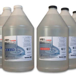 FR1 Crystal Clear Epoxy Resin to use on river tables, bar counter tops and table tops - 8 gallon kit - by FIBERS & RESINS